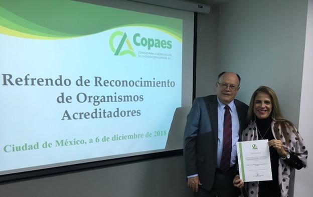 CONAC recibe su certificado de refrendo como organismo acreditador